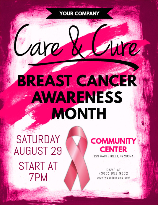 breast cancer awareness flyer design template