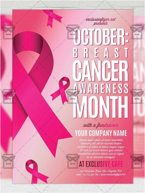 breast cancer awareness month community a5 flyer template