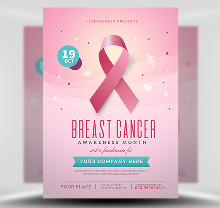 breast cancer awareness month flyer template