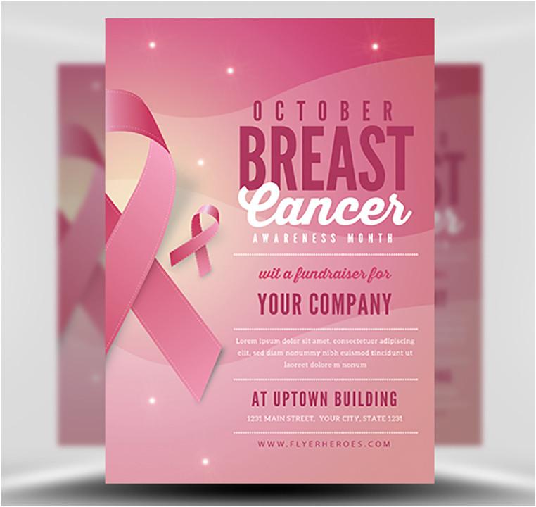 breast cancer awareness month flyer template v2