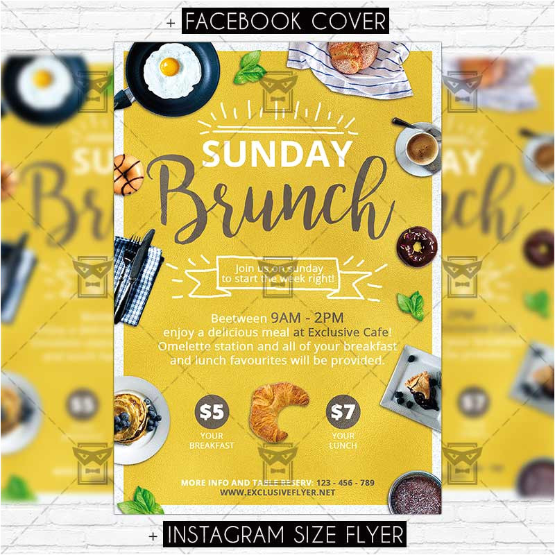Brunch Flyer Template Free Sunday Brunch Premium Psd Flyer Template Exclsiveflyer