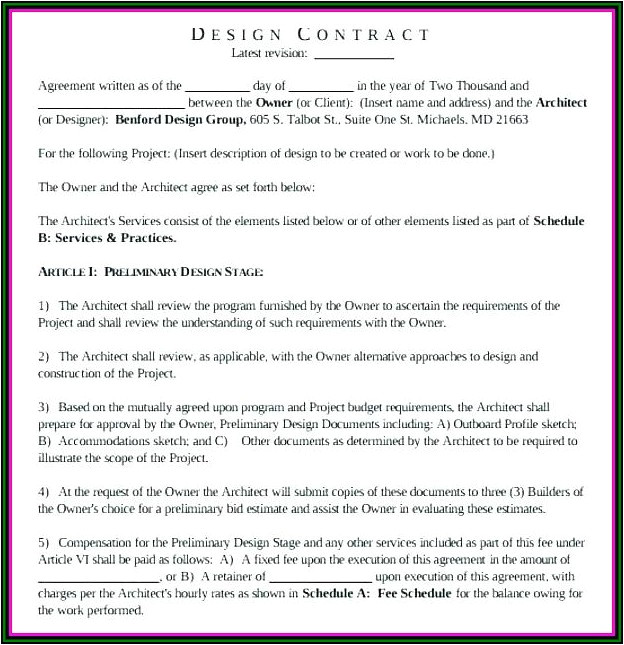 builder contract template free