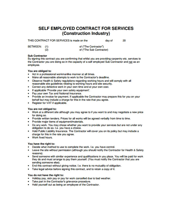 industry contract template