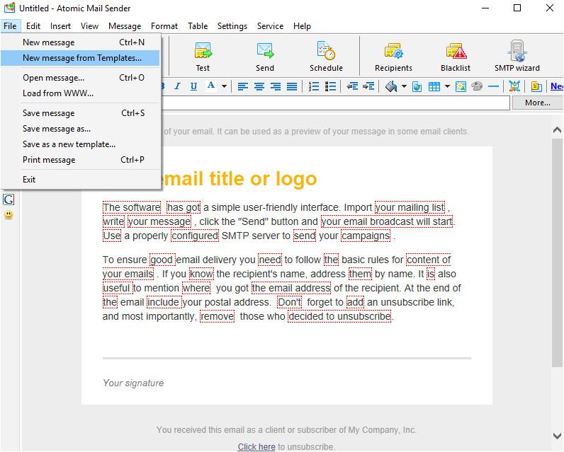 bulk email sender