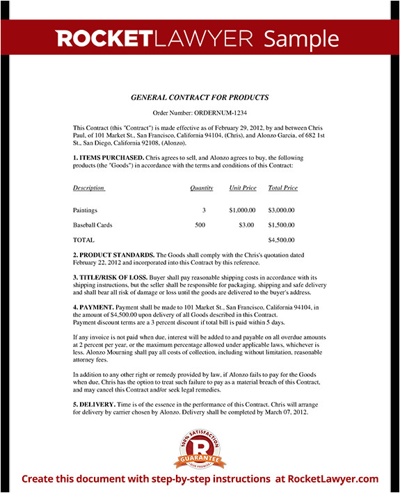 business contract rl