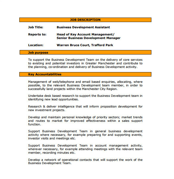 business development job description