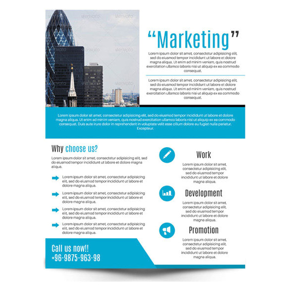 business sales flyer template photoshop
