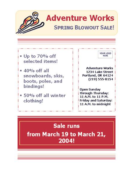 business sale flyer 8 12 x 11 123