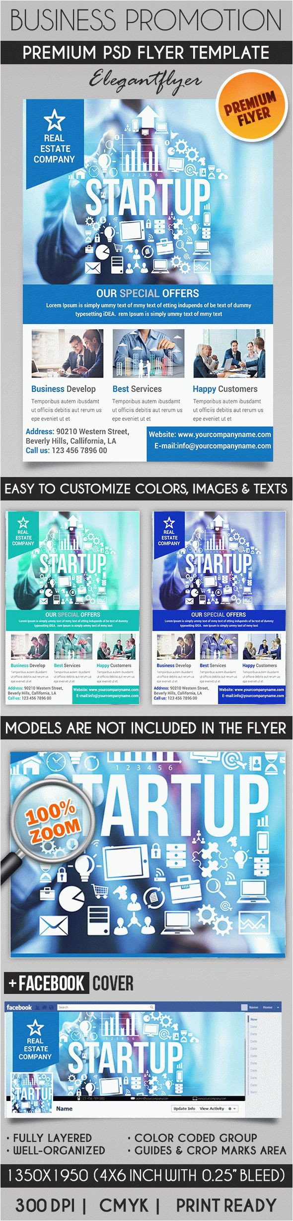 business promotion flyer psd template facebook cover