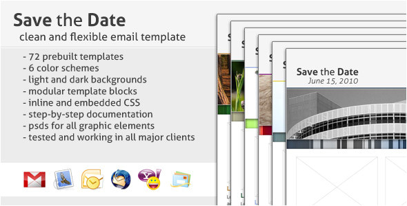 Business Save the Date Email Template Save the Date Email Template by Creekjumper themeforest