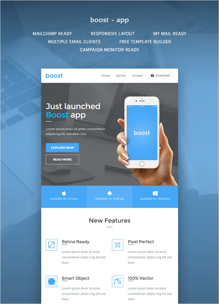 boost app promotional email template