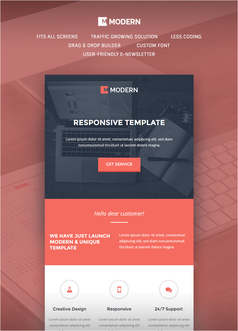 Buy Email Templates Modern Responsive Email Template Buy Premium Modern