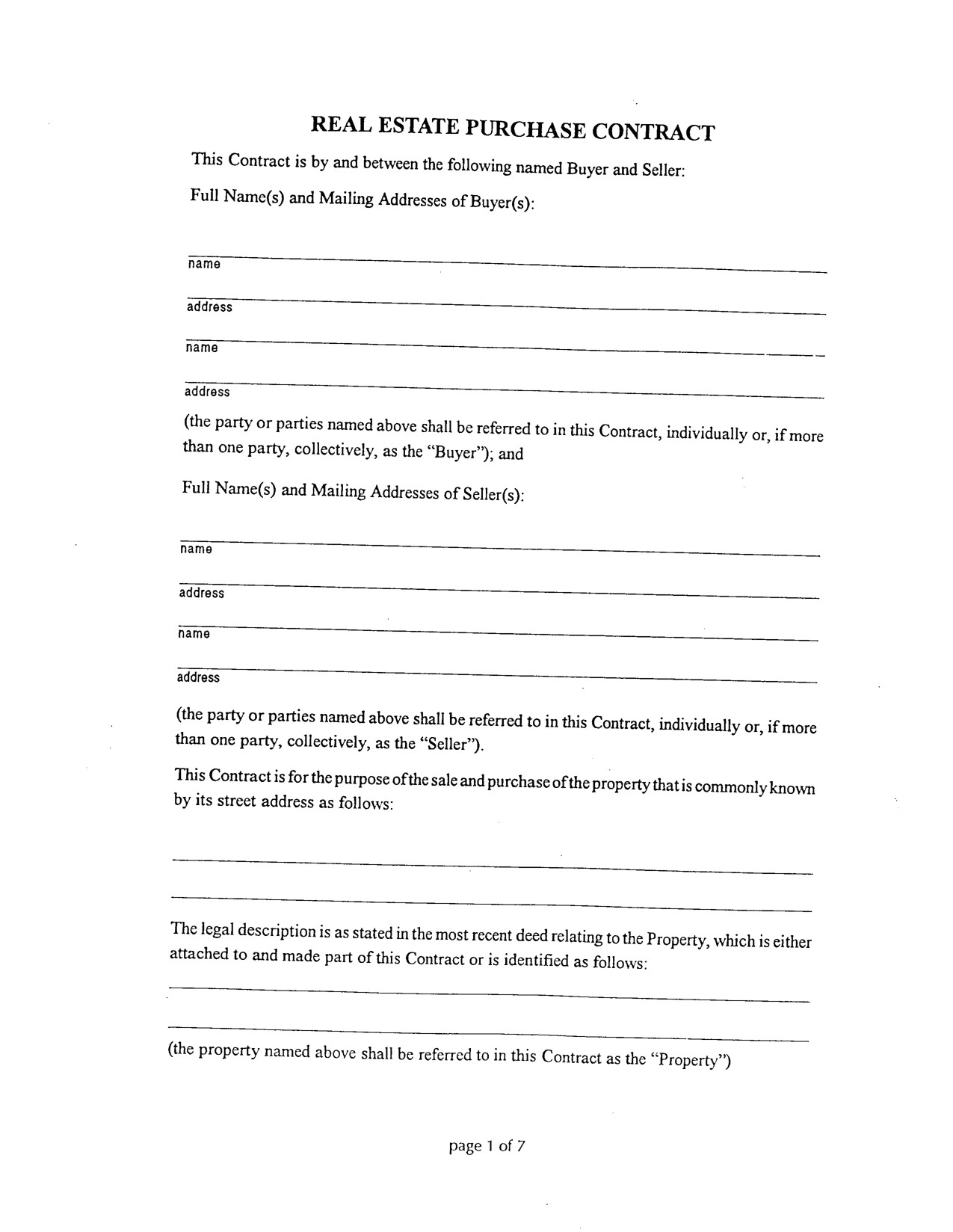 20 printable blank contract template examples