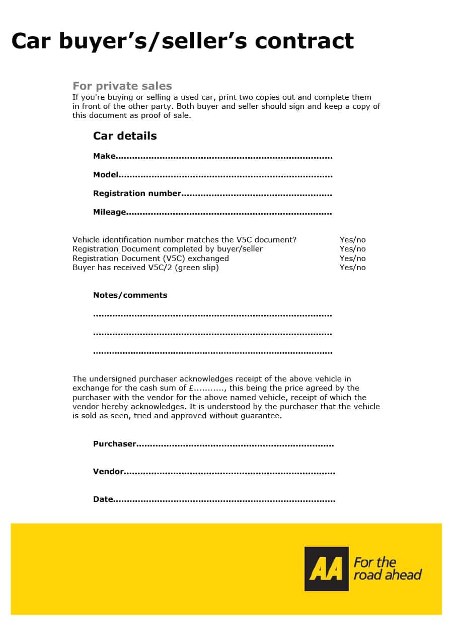 vehicle purchase agreement