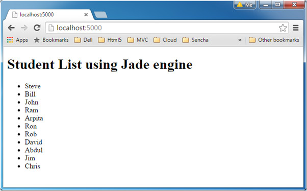 jade template engine
