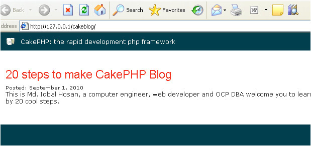 step 5 making homepage for cakephp blog