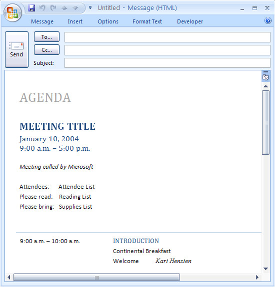 email message meeting agenda 35