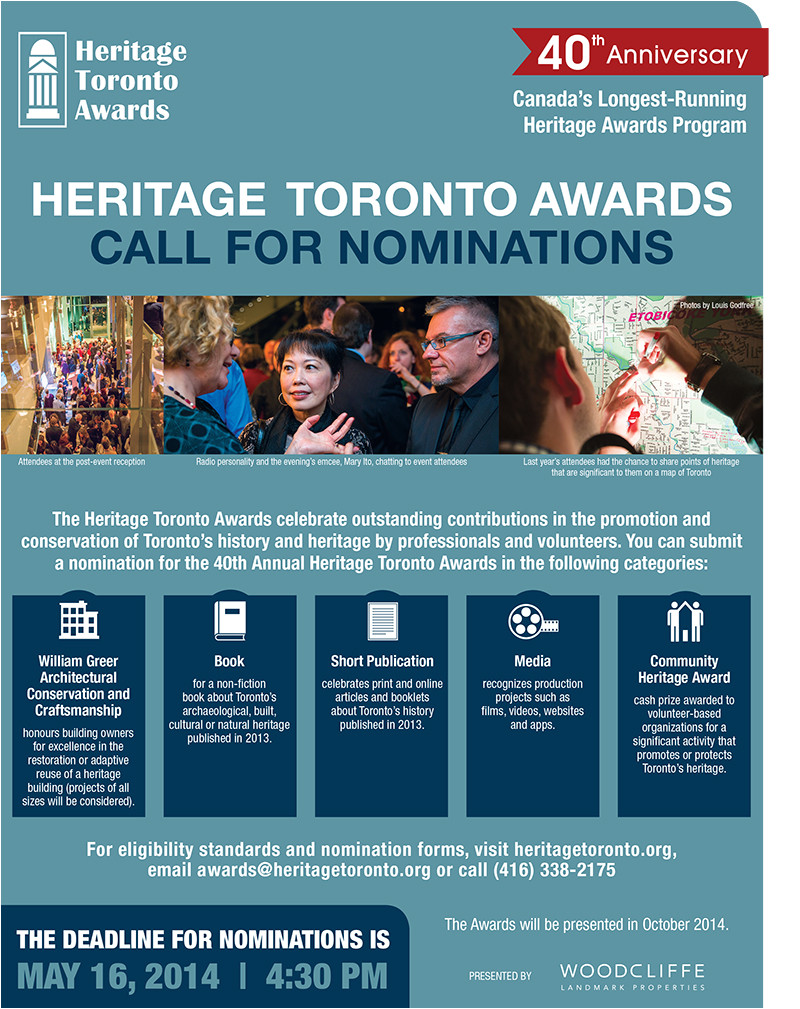 Call for Nominations Email Template Heritage toronto Awards Call for Nominations Active History