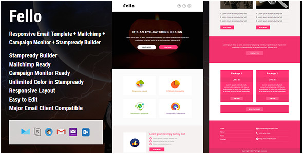 Campaign Monitor Responsive Email Template Fello Responsive Email Template Campaign Monitor