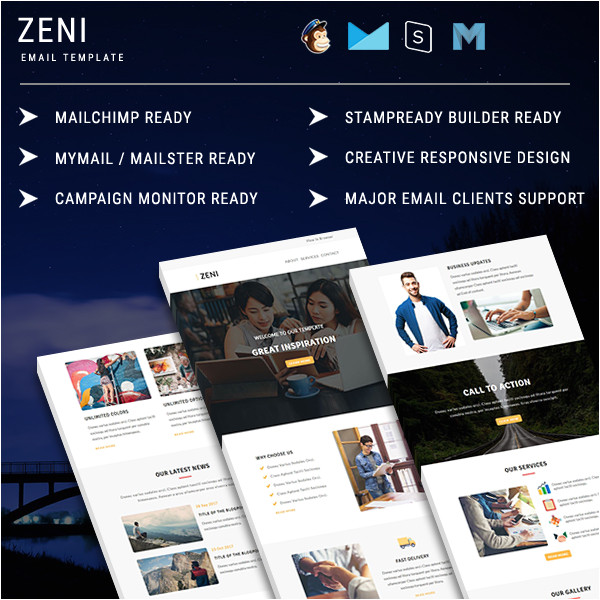 zeni responsive email template