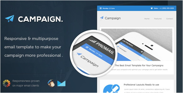 Campaigner Responsive Email Template 24 Best Responsive Email Templates Blogger Tips and Tricks