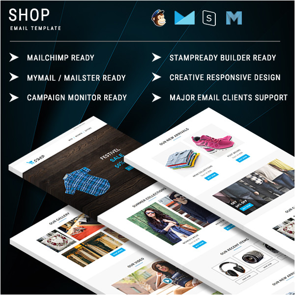shop responsive email template