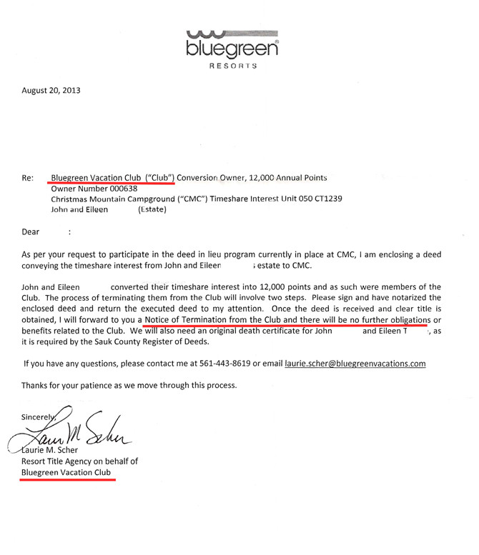 Canceling A Timeshare Contract Letter Templates Bluegreen Resorts Timeshare Cancellation Get Out Of Your