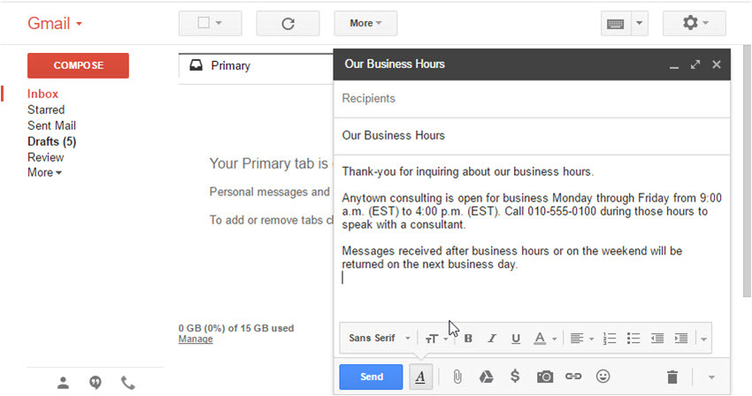 how to create email templates in gmail with canned responses cms 28076