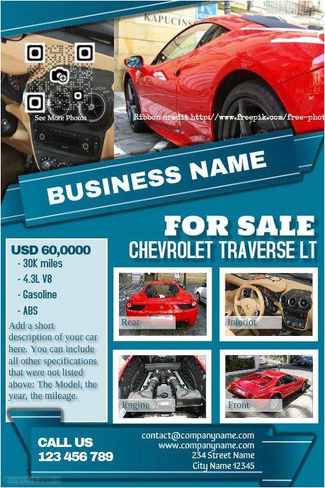 car dealer flyer diy