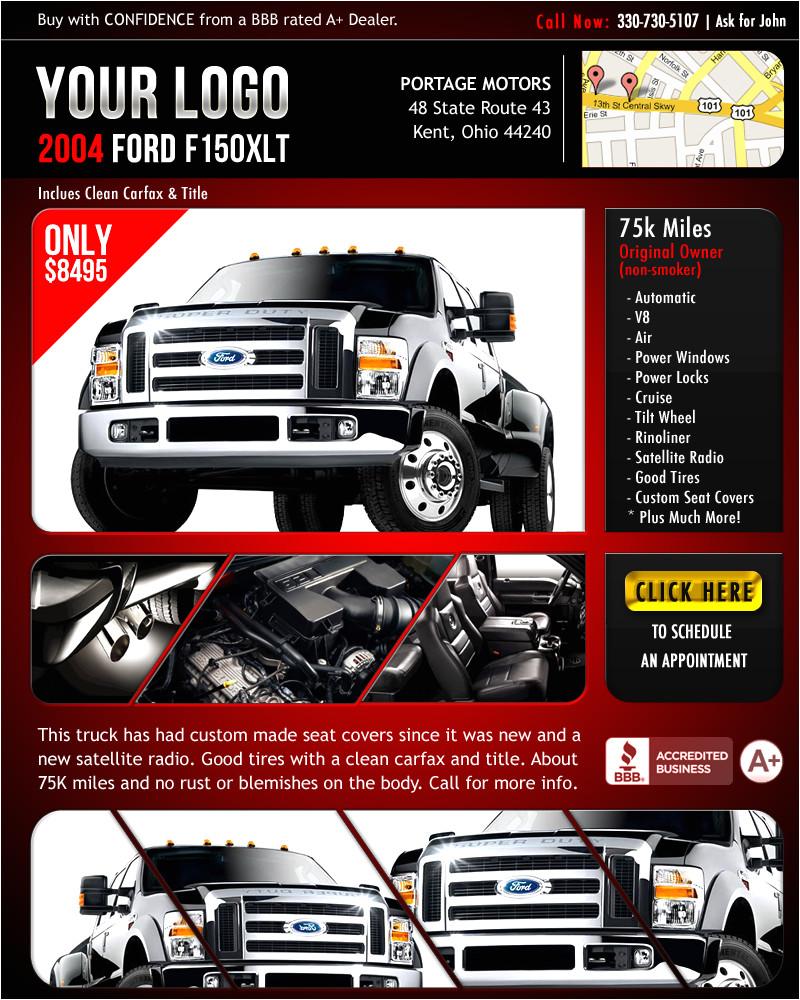 flyer template for car dealer
