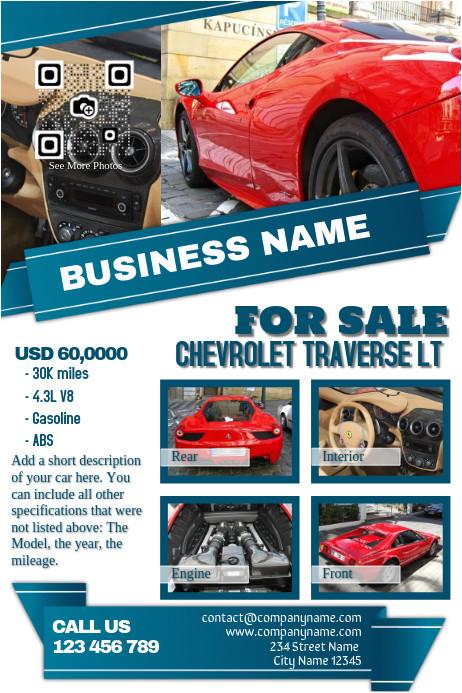 car dealership flyer template