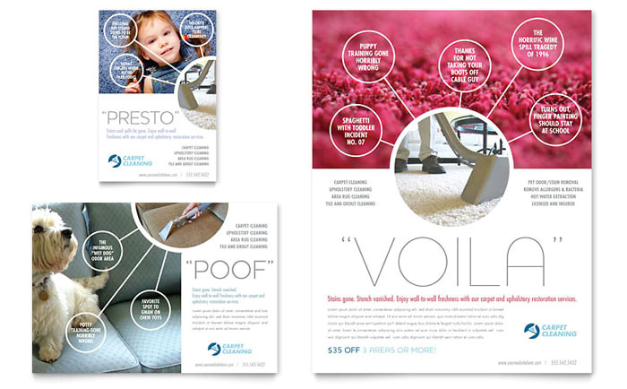 carpet cleaners flyer ad template design hm0040701