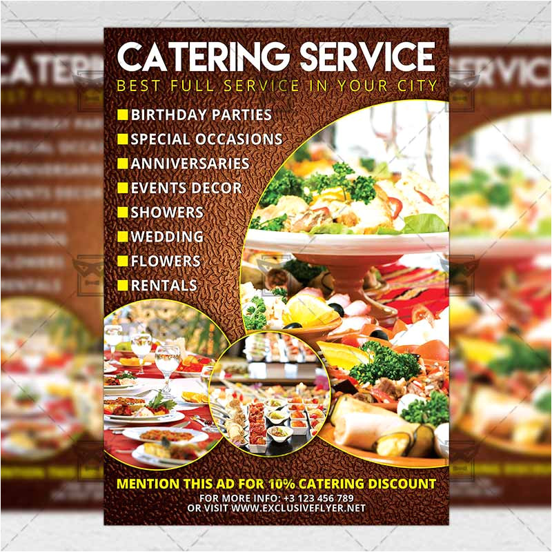 Catering Flyers Templates Free Catering Food A5 Flyer Template Exclsiveflyer Free