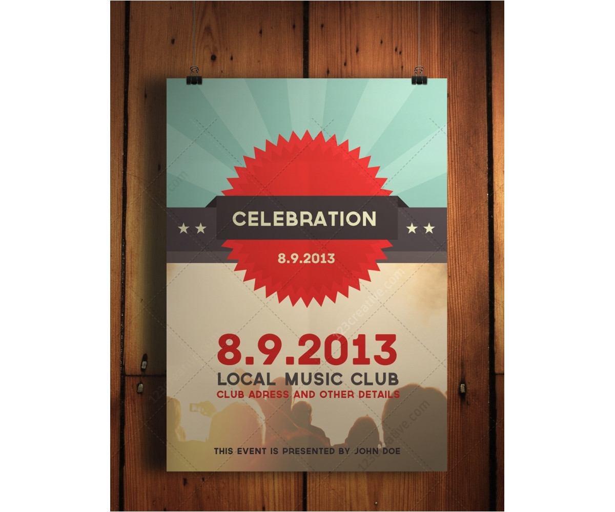 753 celebration flyer psd template