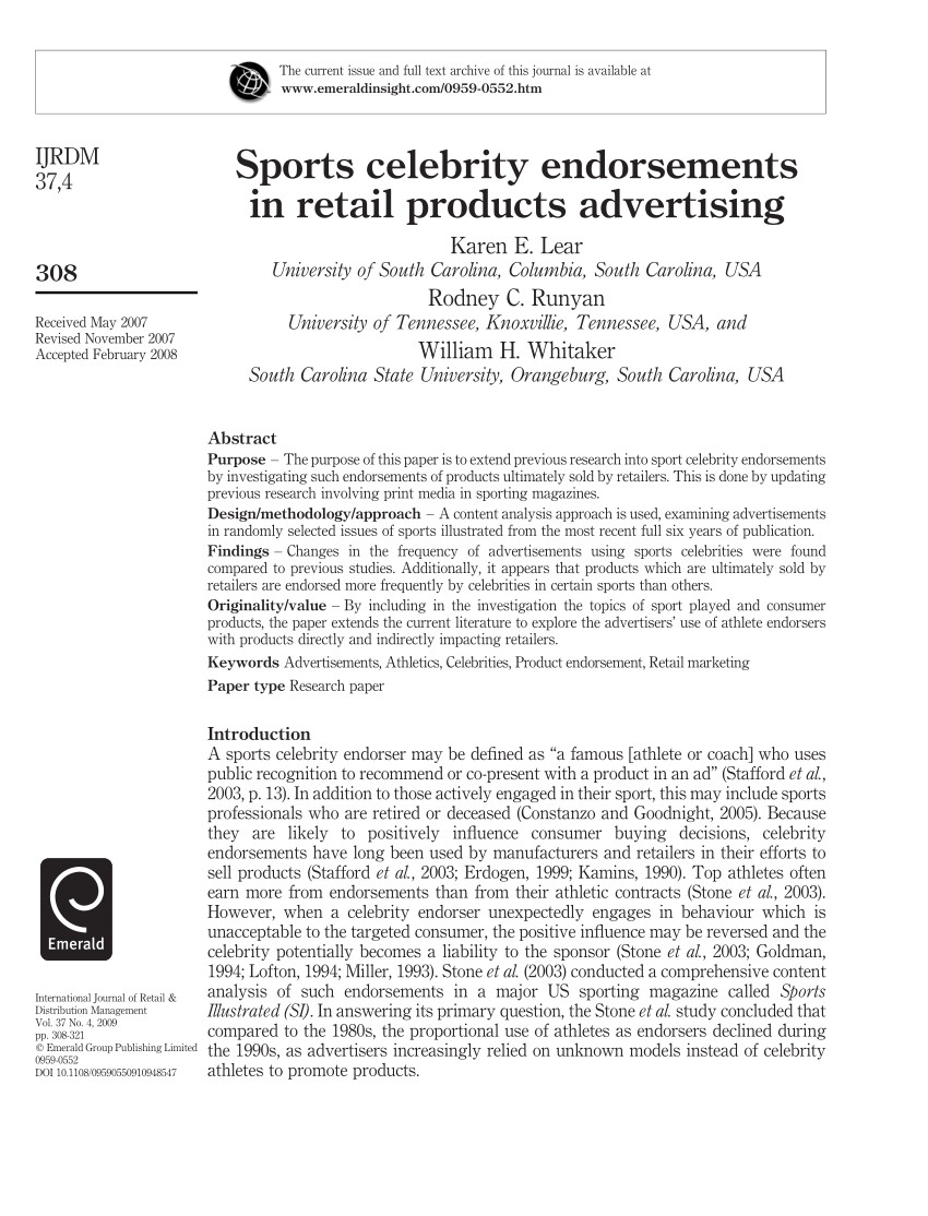 240260683 sports celebrity endorsements in retail products advertising