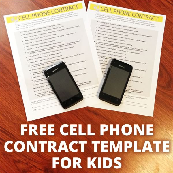 cell phone contract template
