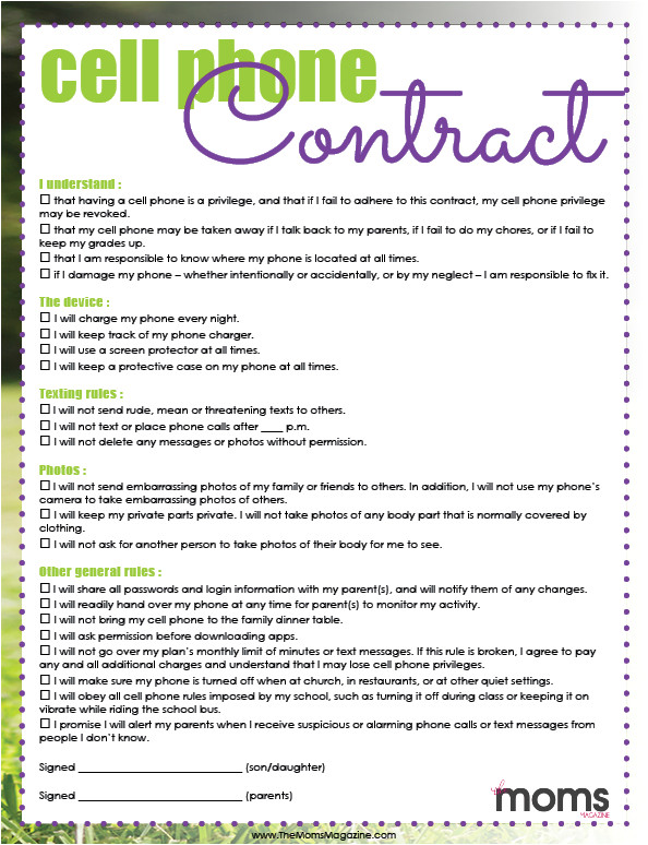 signing a cell phone contract