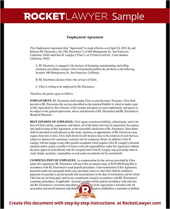 executive employment agreement rl