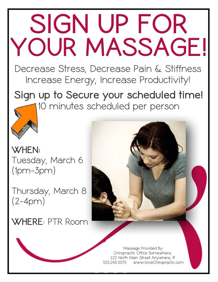 massage flyer