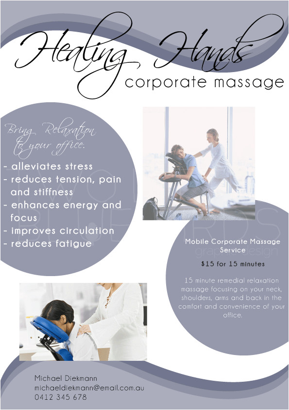 Chair Massage Flyer Templates Massage Business Flyer Flyers Poster Corporate