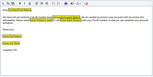 creating an email template is quick and easy in crm 2011