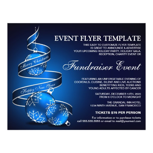 holiday fundraiser event flyer template 244740445077135057