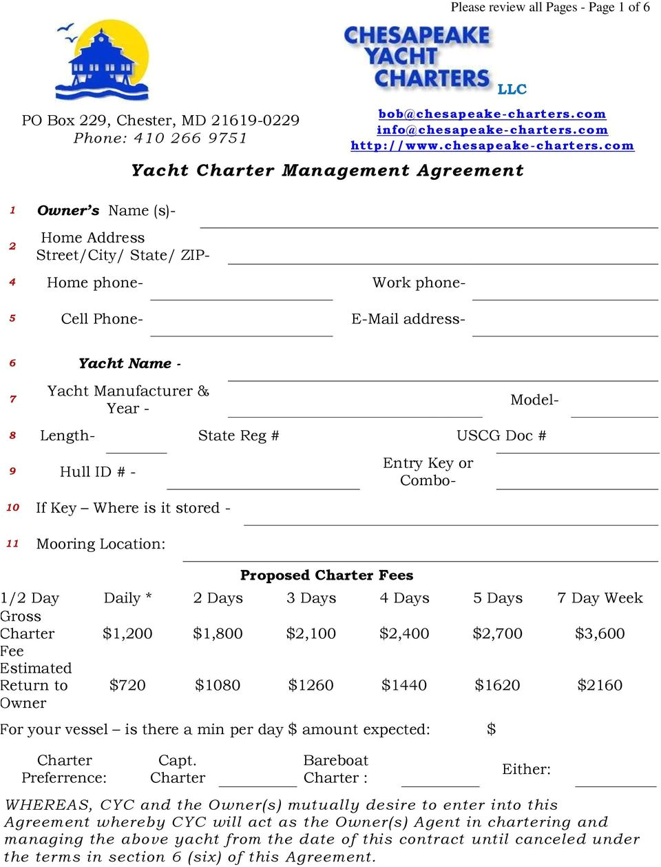23548672 yacht charter management agreement