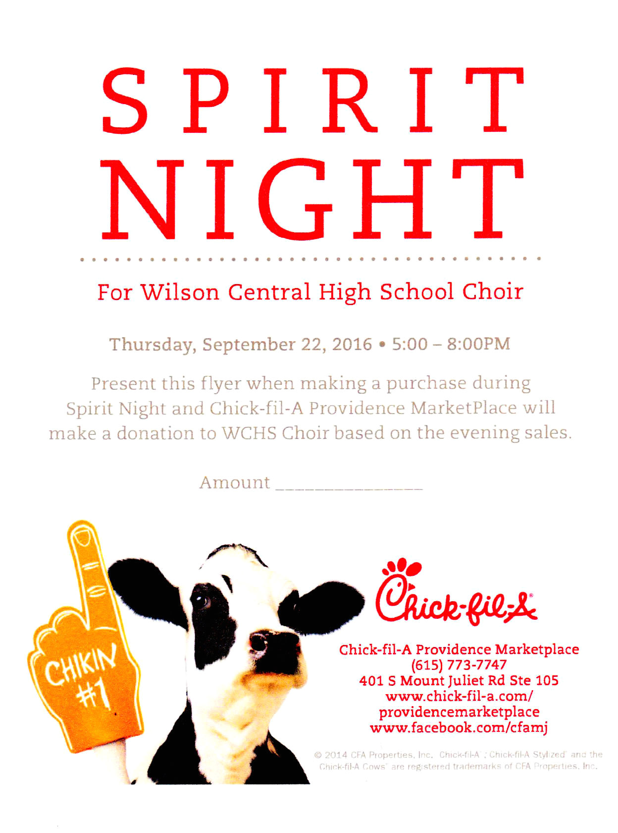 chick fil a spirit night flyer and yankee candle online fundraiser info