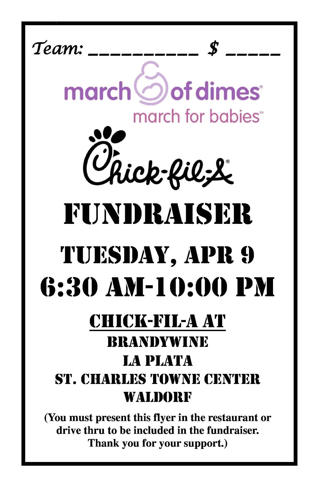 chick fill fundraiser