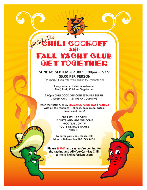 chili cook off flyer free printable
