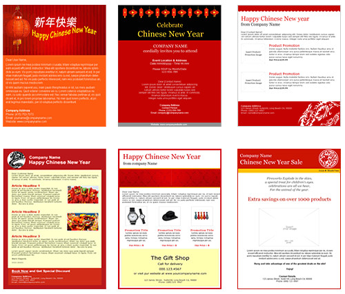 chinese new year email templates for the tear of the hare