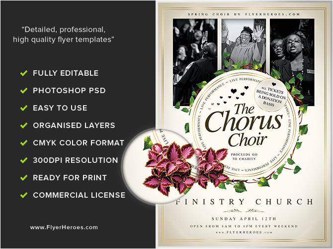 chorus choir flyer template