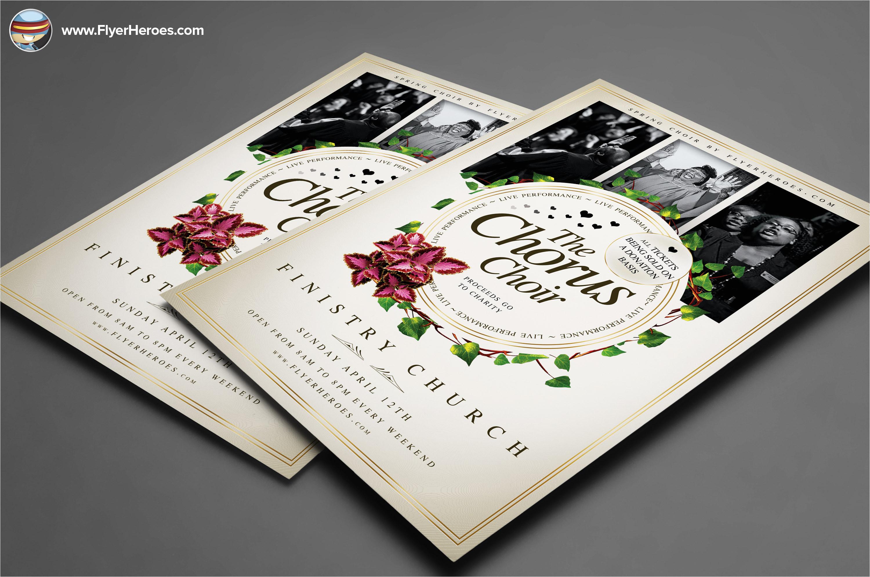 29532 chorus choir psd flyer template