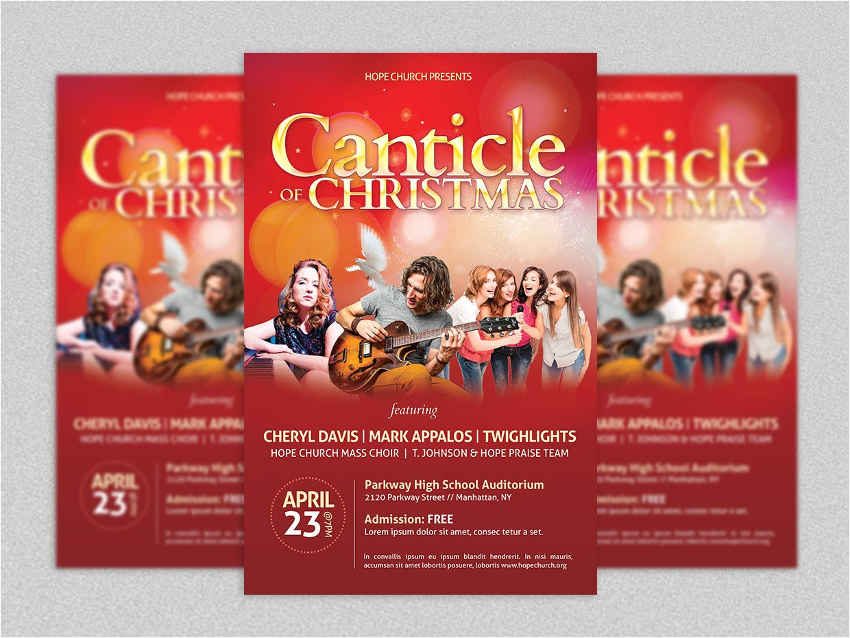 418472 christmas concert flyer poster